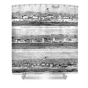 Civil War: Fort Moultrie Shower Curtain