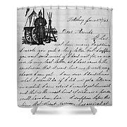 Civil War: Letter, 1862 Shower Curtain