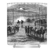 Civil War: Potomac Bridge Shower Curtain