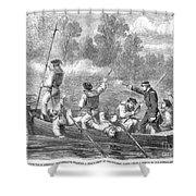 Civil War: Potomac River Shower Curtain