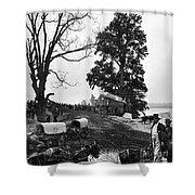Civil War: Supply Base, 1864 Shower Curtain