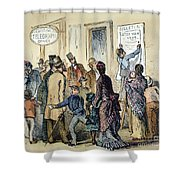 Civil War Telegraph Office Shower Curtain
