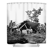 Civil War: Telegraphers, 1864 Shower Curtain