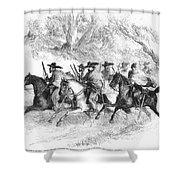 Civil War: Texas Rangers Shower Curtain