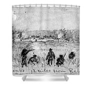 Civil War: Union Troops Shower Curtain