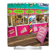 Clacton Pier Shop Shower Curtain