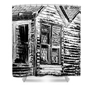 Clapboards And Lace Shower Curtain