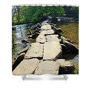 Clapper Bridge-sommerset Shower Curtain