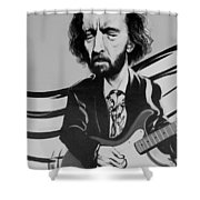 Clapton In Black And White Shower Curtain