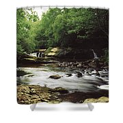 Clare River, Clare Glens, Co Tipperary Shower Curtain