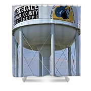 Clarksdale Water Tower Shower Curtain