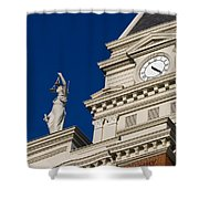 Clarksville Historic Courthouse Shower Curtain