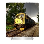Class 33 At Bishop Auckland Shower Curtain