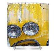 Classic Antique Chevy Corvette - Detail Shower Curtain