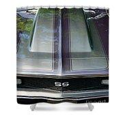 Classic Camaro Ss Hood Cowl Shower Curtain
