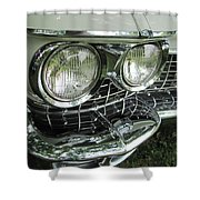 Classic Car - White Grill 1 Shower Curtain