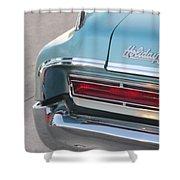 Classic Car Aqua Holiday Shower Curtain