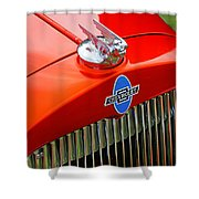 Classic Chevrolet Hood And Grill Shower Curtain