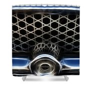 Classic Chrome Car Grill Shower Curtain