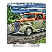 Classic Ford Hdr Shower Curtain