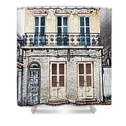 Classic French Quarter Residence New Orleans Colored Pencil Digital Art Shower Curtain