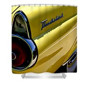 Classic T-bird Tailfin Shower Curtain