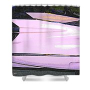 Classic Tails - Pink 1959 Cadillac Shower Curtain
