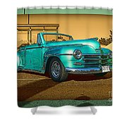 Classic Teal Convertible Shower Curtain