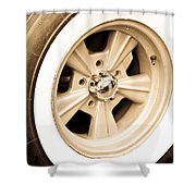 Classic Wheel Shower Curtain