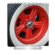 Classic White Wall Tire And Mag Shower Curtain