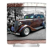 Classy Brown Ford Shower Curtain
