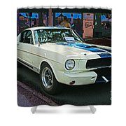 Classy Mustang Shower Curtain