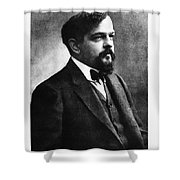 Claude Debussy, French Composer Shower Curtain by Photo Researchers