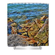 Clear Calm Collective  Shower Curtain