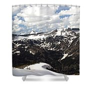 Clear Day On Rendezvous Mountain Shower Curtain
