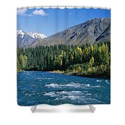 Clear Flowing Honolulu Creek And Fall Shower Curtain