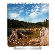 Clear Lake Oregon Shower Curtain