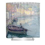 Clear Morning - Quimperle Shower Curtain