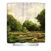 Clearing In The Woods Shower Curtain