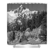 Clearing Storm On Grand Teton  Shower Curtain