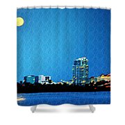 Clearwater At Night Shower Curtain