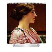 Cleonice Shower Curtain by John William Godward