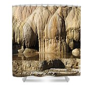 Cleopatra Terrace, Mammoth Hot Springs Shower Curtain