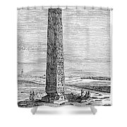 Cleopatras Needle Shower Curtain by Granger