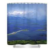 Clew Bay, Co Mayo, Ireland View Of A Shower Curtain
