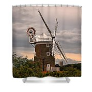 Cley Windmill Shower Curtain by Chris Thaxter