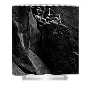 Cliff Dancers Black And White Shower Curtain