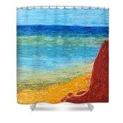 Cliff Hangar Shower Curtain