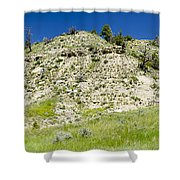 Cliff Side Panorama Shower Curtain
