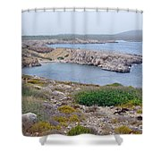 Cliffs And Coves Of Son Parc  Shower Curtain